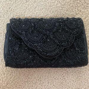 Beaded black purse